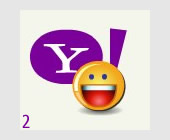{yahoo!} Yahoo! Messenger logo which appears during sign-in on Yahoo! Messenger