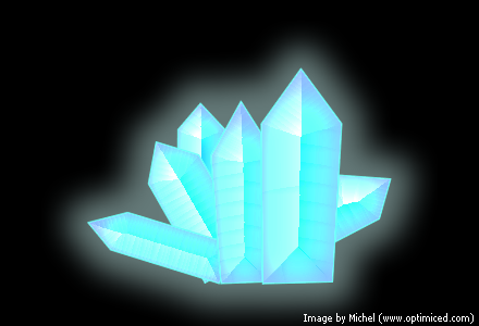 Crystals made with Adobe Fireworks (image 1)