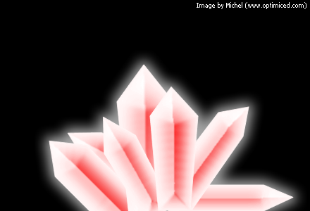 Crystals made with Adobe Fireworks (image 2)