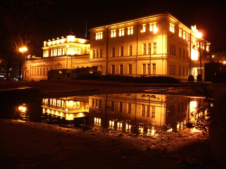 Sofia Parliament by night (reflections)
