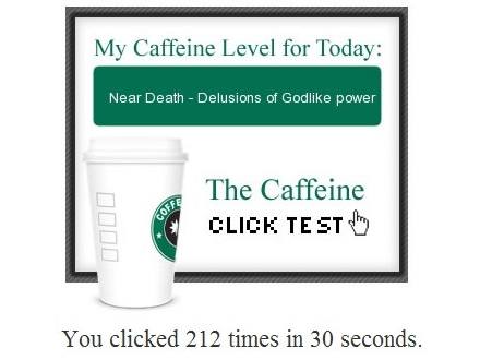 Caffeine test results