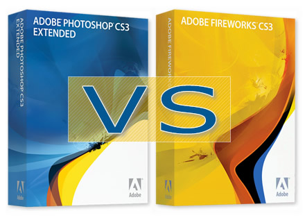 Adobe Photoshop vs. Adobe Fireworks (illustration)