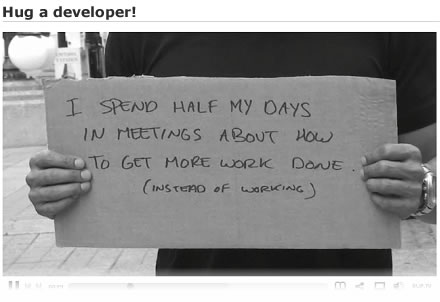 hug a developer!