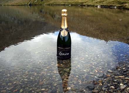 Lanson Black Label champagne and the Rila Lakes