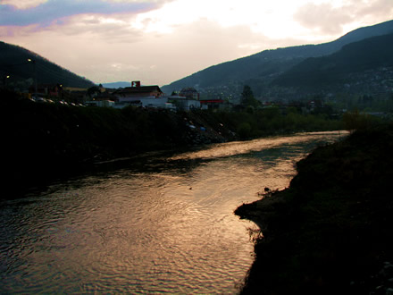 Svoge at sunset