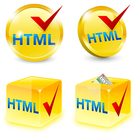W3C HTML icon from Veerle, PNG