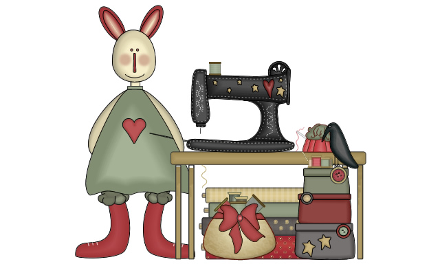 The rabbit and the sewing machine (imitation in Adobe Fireworks)