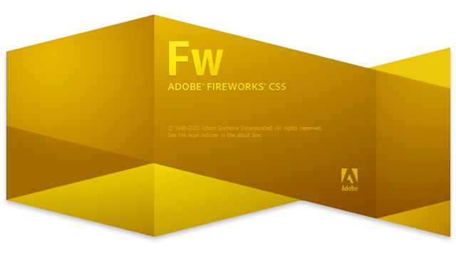 Adobe Fireworks CS5 splash screen