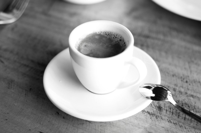 Coffee cup (shot in black & white)