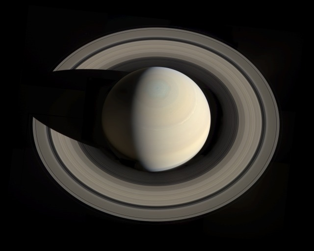 Saturn, by Cassini (2013)