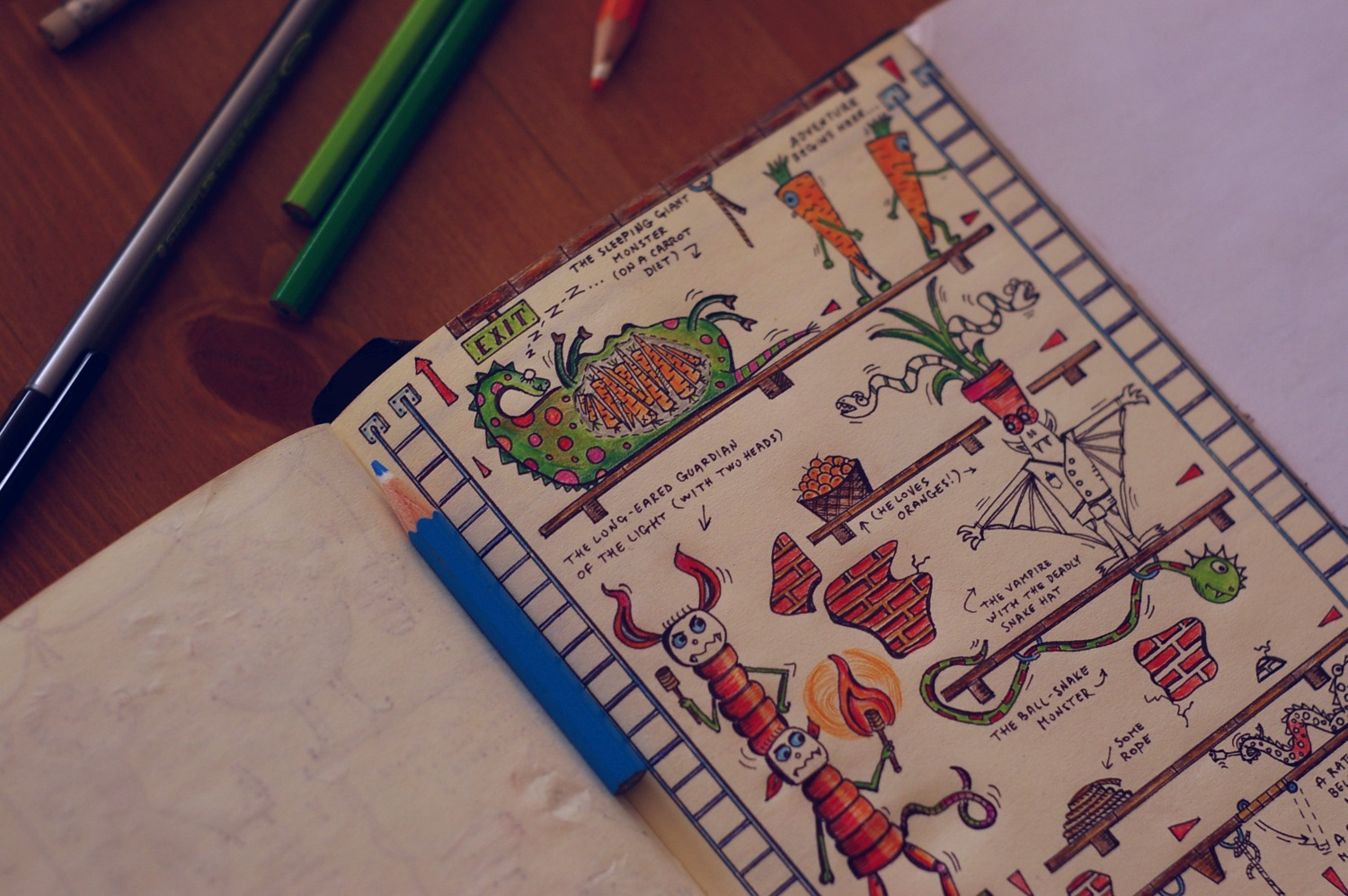 Monsters and Carrots: The Labyrinths