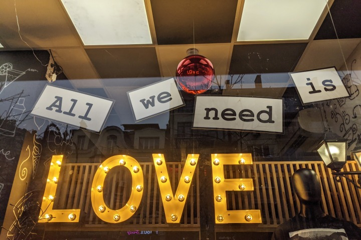 All we need is love.