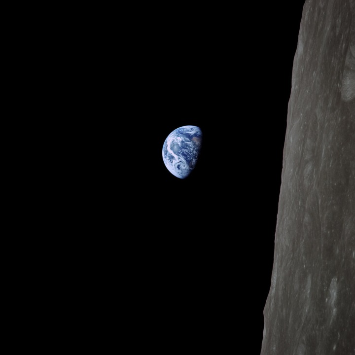 The Earth from the Moon -- Apollo 8, 24-Dec-1968